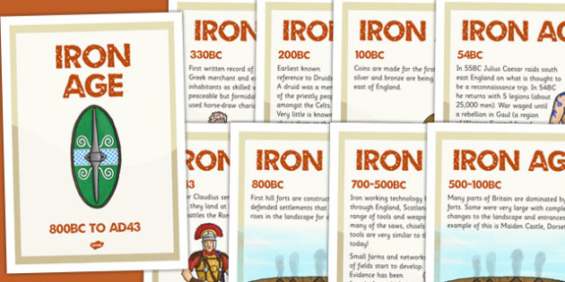 Iron Age Timeline Posters - iron age, timeline, history, posters