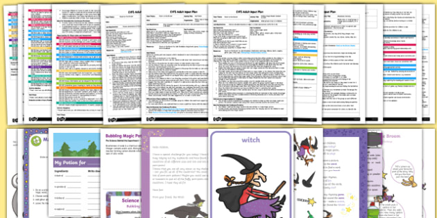 EYFS Adult Input Planning and Resource Pack to Support Teaching on Room on the Broom-Australia