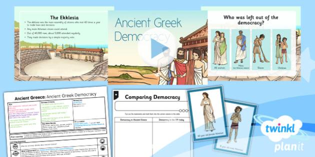 PlanIt - History KS2 - Ancient Greece Lesson 2: Ancient Greek Democracy Lesson Pack