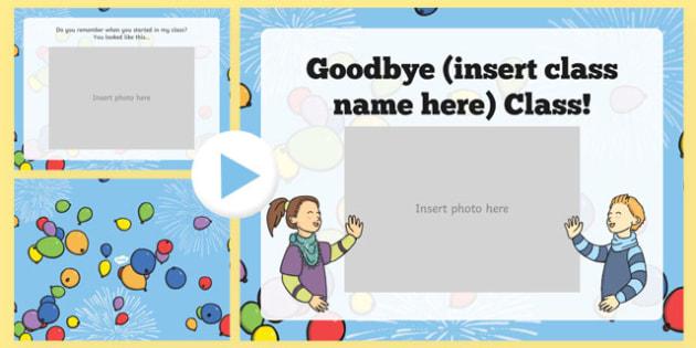 Goodbye Class Editable PowerPoint - usa, america, goodbye class, editable, powerpoint, goodbye, class