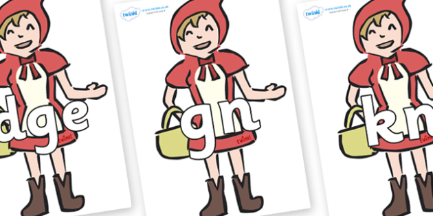 Silent Letters on Little Red Riding Hood - Silent Letters, silent letter, letter blend, consonant, consonants, digraph, trigraph, A-Z letters, literacy, alphabet, letters, alternative sounds