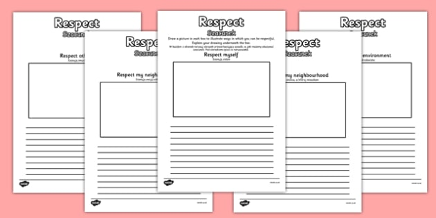 Respect Drawing and Writing Frame Polish Translation - polish, respect, different, diversity, discrimination, behaviour, acceptance, differences, drawing and writing frames, pshe