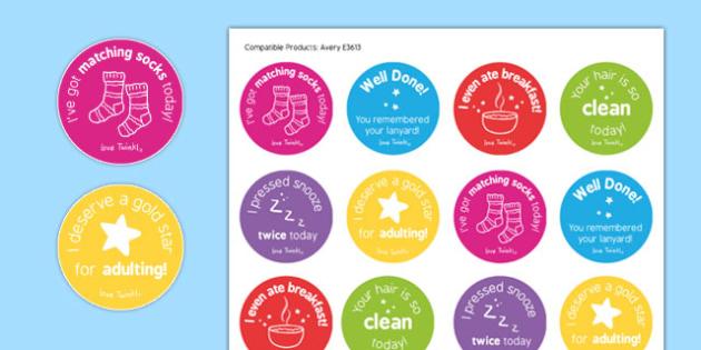 Teacher Stickers - teacher stickers, teacher, stickers, achieve, congratulate, well done, confidence boost, funny, laugh