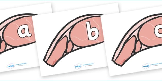 Phoneme Set on Bacon - Phoneme set, phonemes, phoneme, Letters and Sounds, DfES, display, Phase 1, Phase 2, Phase 3, Phase 5, Foundation, Literacy
