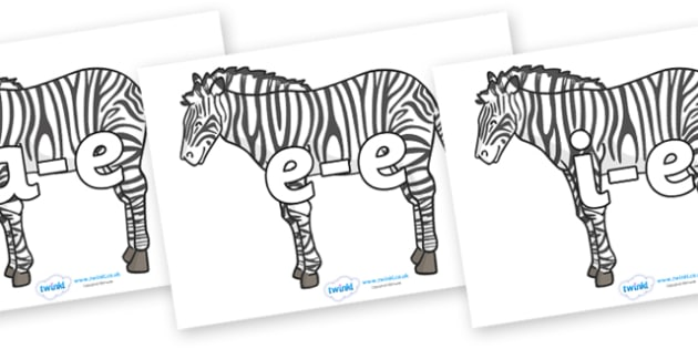Modifying E Letters on Zebras - Modifying E, letters, modify, Phase 5, Phase five, alternative spellings for phonemes, DfES letters and Sounds