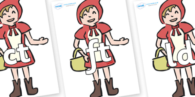 Final Letter Blends on Little Red Riding Hood - Final Letters, final letter, letter blend, letter blends, consonant, consonants, digraph, trigraph, literacy, alphabet, letters, foundation stage literacy