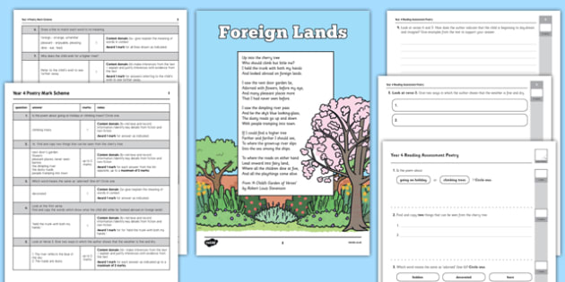 Year 4 Reading Assessment: Poetry Term 3 - assessment, poetry, reading, year 4