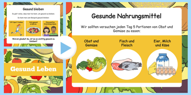 Gesund Leben - german, powerpoint, power point, interactive, powerpoint presentation, healthy eating, healthy living, health powerpoint, how to be healthy, presentation, slide show, slides, discussion aid, discussion po