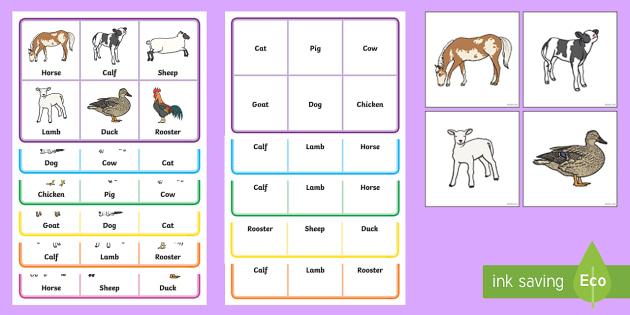 Farm Animals Lotto Bingo - animals, lotto, bingo, games