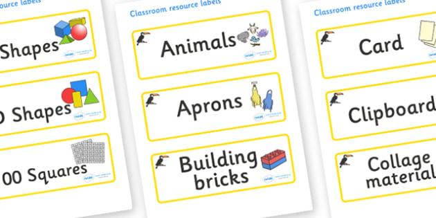 Toucan Themed Editable Classroom Resource Labels - Themed Label template, Resource Label, Name Labels, Editable Labels, Drawer Labels, KS1 Labels, Foundation Labels, Foundation Stage Labels, Teaching Labels, Resource Labels, Tray Labels, Printable la