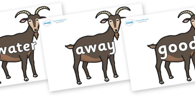 Next 200 Common Words on Big Billy Goats - Next 200 Common Words on  - DfES Letters and Sounds, Letters and Sounds, Letters and sounds words, Common words, 200 common words