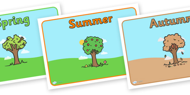 Editable Class Group Signs (Four Seasons) - Seasons, Autumn, Summer, Spring, Winter, fall, group signs, group labels, group table signs, table sign, teaching groups, class group, class groups, table label