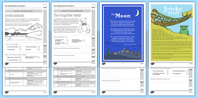 Year 2 Reading Assessment Term 3 - formative, summative, diagnostic, fiction, non-fiction, reading assessment