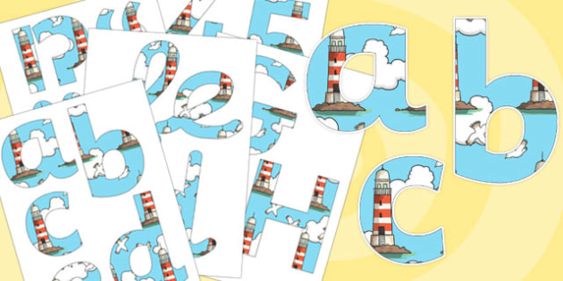 Display Letters and Numbers Pack to Support Teaching on The Lighthouse Keeper's Lunch