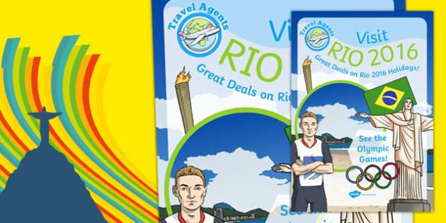 Rio Olympics Travel Agent Deal Poster - rio 2016 olympics, travel agents, deal, poster, display
