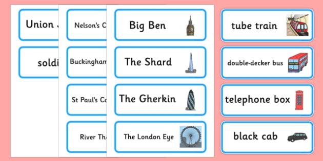 London Hunt Word Cards - london hunt, word cards, london, hunt, words, cards