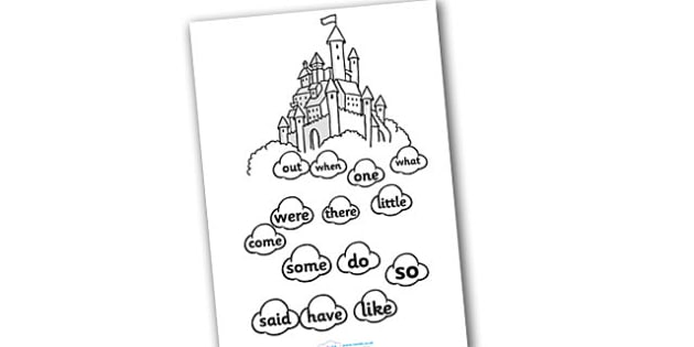 Phase 4 Tricky Word Stepping Stone Colouring Activitiy Sheet - tracing letters, phonemes, handwriting, letter formation, writing practice, foundation, letters, writing, learning to write, DFES letters and sounds, Phase 2, Phase 3, Phase two, Phase th