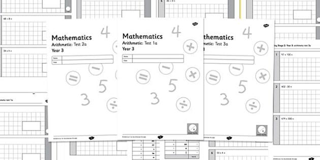 Year 3 Arithmetic Half Tests - year 3, arithmetic, half tests