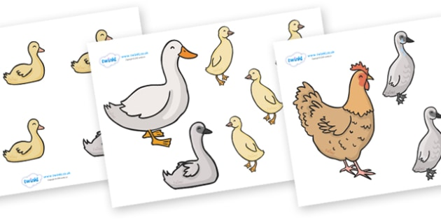 The Ugly Duckling Stick Puppets - The Ugly Duckling, Hans Christian Andersen, Andersen, fairy tale, story, story book, story sequencing, story resources, stick puppet, Danish, bird, barnyard, swan, beautiful, ugly, transformation, tale, story, readin