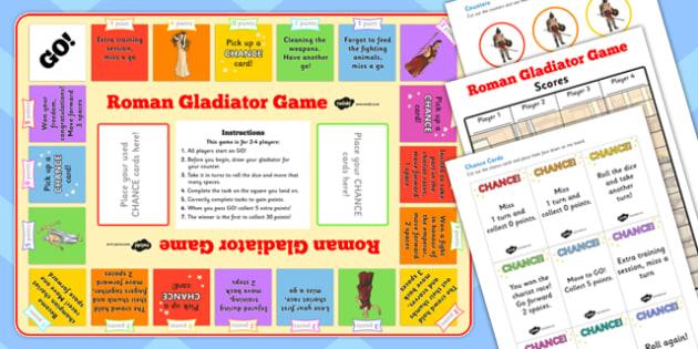 Roman Gladiator Board Game - roman, gladiator, board game, game