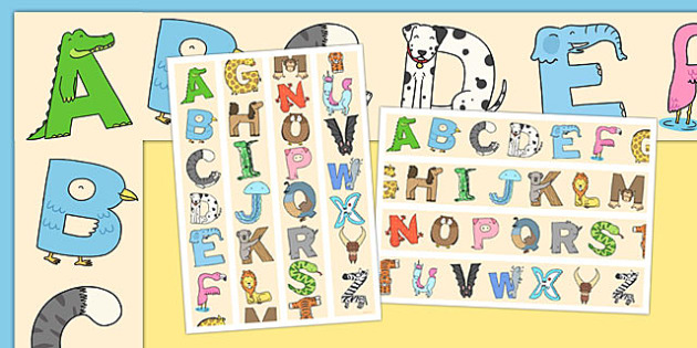 Animal Alphabet Display Borders - animal, alphabet, display borders