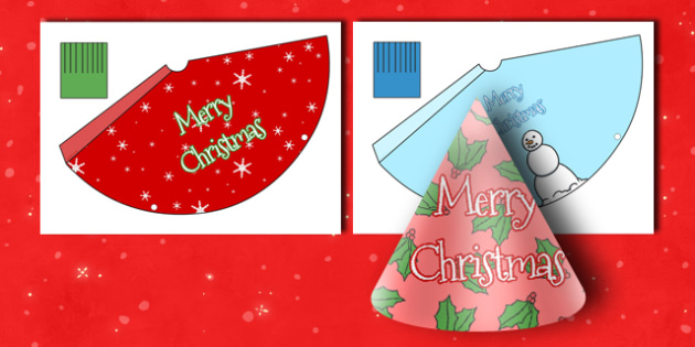 Christmas Party Hats - Christmas, xmas, party hat, hat template, activity, tree, advent, nativity, santa, father christmas, Jesus, tree, stocking, present, activity, cracker, angel, snowman, advent , bauble