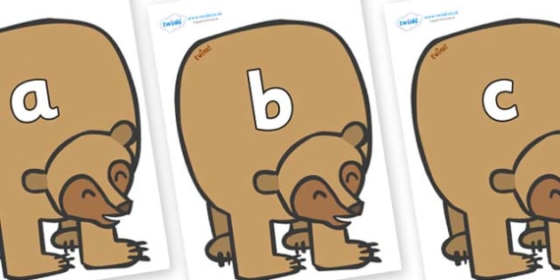 Phase 2 Phonemes on Brown Bear to Support Teaching on Brown Bear, Brown Bear - Phonemes, phoneme, Phase 2, Phase two, Foundation, Literacy, Letters and Sounds, DfES, display