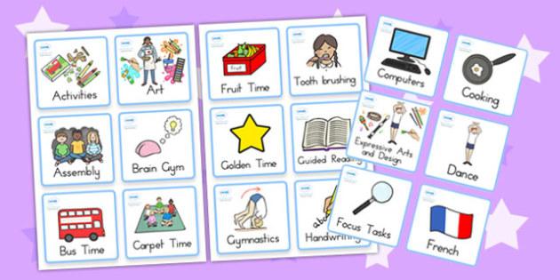 Kindergarten Pre Primary Visual Timetable - kindergarten, display