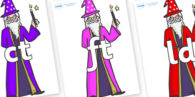 Final Letter Blends on Wizards - Final Letters, final letter, letter blend, letter blends, consonant, consonants, digraph, trigraph, literacy, alphabet, letters, foundation stage literacy