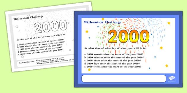 Millennium Maths Challenge A4 Display Posters - challenge, math