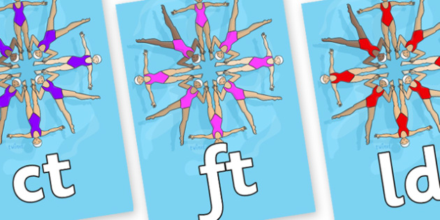 Final Letter Blends on Synchronised Swimming - Final Letters, final letter, letter blend, letter blends, consonant, consonants, digraph, trigraph, literacy, alphabet, letters, foundation stage literacy