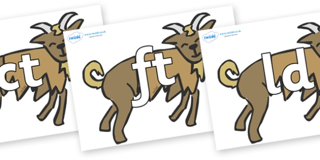 Final Letter Blends on Billy Goats Gruff - Final Letters, final letter, letter blend, letter blends, consonant, consonants, digraph, trigraph, literacy, alphabet, letters, foundation stage literacy