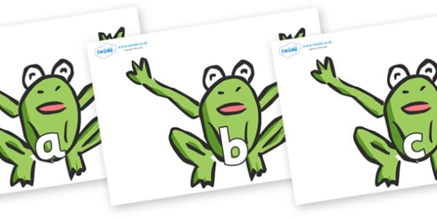 Phase 2 Phonemes on Frogs - Phonemes, phoneme, Phase 2, Phase two, Foundation, Literacy, Letters and Sounds, DfES, display
