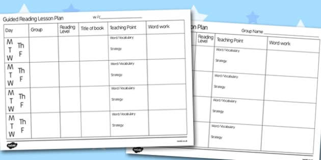 Guided Reading Lesson Plan Aid - guided reading, lesson plan, lessons, guided reading lessons, lesson plan aid, guided reading aid, lesson ideas, literacy