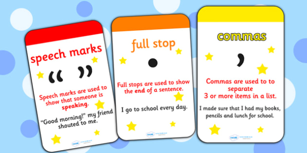 Punctuation Flashcards - punctuation, flashcards, punctuation flashcards, punctuation cards, punctuation word cards, key words, flash card