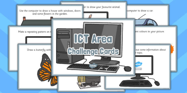 ICT Area Challenge Cards - challenge, cards, area, ict, eyfs