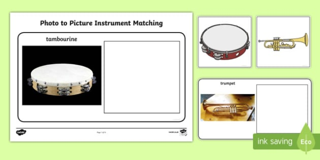 Workstation Pack: Photo to Picture Instrument Matching Activity Pack