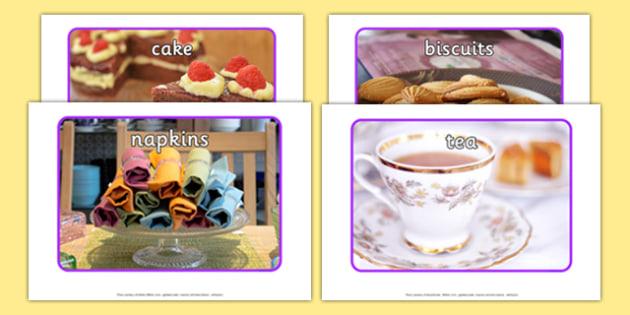 Royal Afternoon Tea Role Play Display Photos - royal, afternoon tea, role play, display, photos