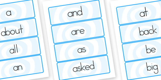 100 Sight Words Flashcards - sight, see, senses, word cards, card
