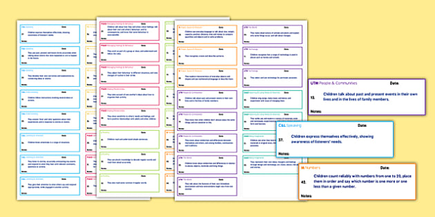 EYFS Early Learning Goals on Stickers