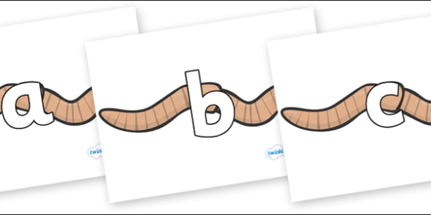 Phoneme Set on Worms - Phoneme set, phonemes, phoneme, Letters and Sounds, DfES, display, Phase 1, Phase 2, Phase 3, Phase 5, Foundation, Literacy