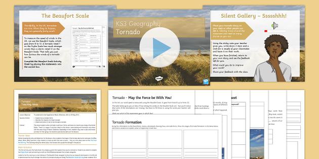 Tornado! Lesson Pack - Natural Hazards, tornado, Moore, Oklahoma, Tornado Alley, winds, Fujita, Beaufort Scale.
