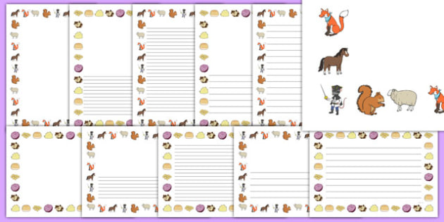 Bandit Rat Themed Page Borders Pack - highway rat, bandit rat, julia donaldson, page borders