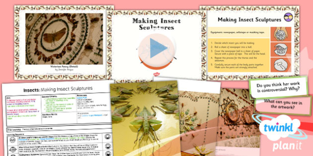 PlanIt - Art LKS2 - Lesson 5: Making Insect Sculptures Lesson Pack