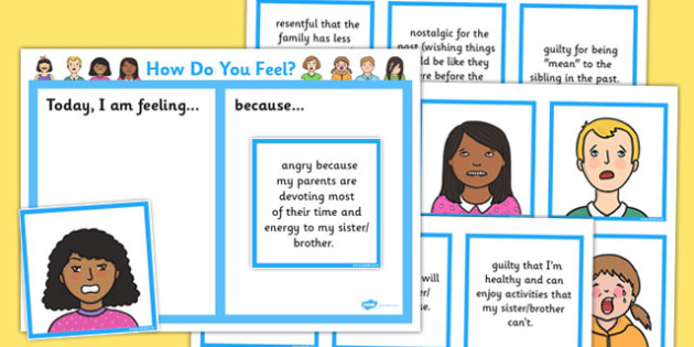 How Do You Feel? Caring for Siblings of Seriously Ill Children Support Cards