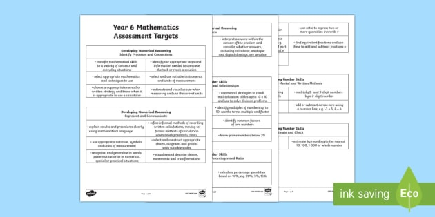 Curriculum for Wales Year 6 Mathematics Targets Assessment Pack - Back to school resources, Assessment, Wales, Welsh, Year 6, Assessment Sheets, Welsh Curriculum.,Wel