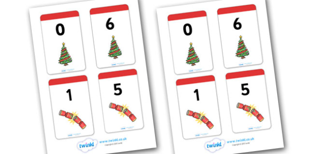Christmas Themed Number Bonds to 6 Matching Cards - christmas