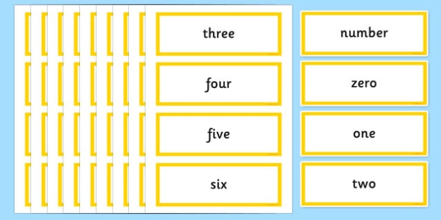 Year 2 Maths Vocabulary Word Cards Numbers and the Number System - year 2 maths, maths vocabulary, vocabulary, maths, word cards, numbers, number system