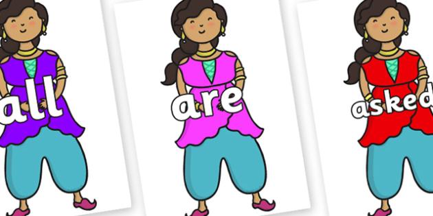 Tricky Words on Princess - Tricky words, DfES Letters and Sounds, Letters and sounds, display, words