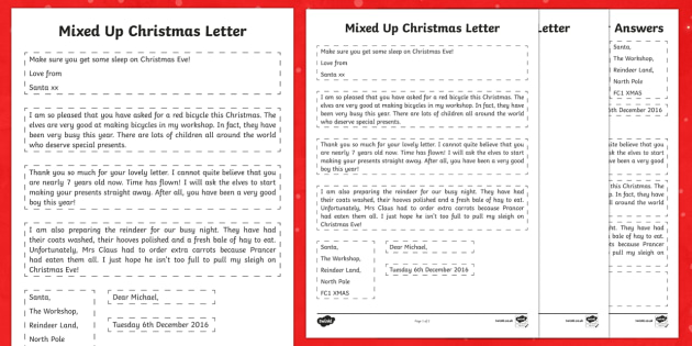 Mixed Up Christmas Letter Activity Sheet - Christmas, Nativity, Jesus, xmas, Xmas, Father Christmas, Santa, St Nic, Saint Nicholas, traditions,
